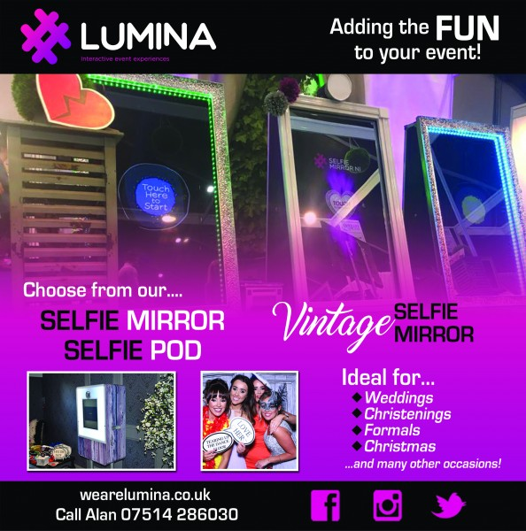 Lumina Selfie Mirrors and Pods